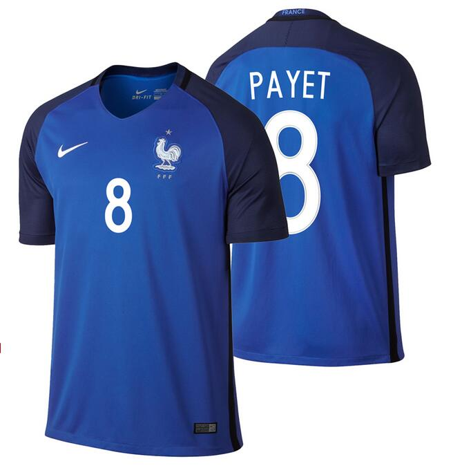 France #8 Payet Home Kid Soccer Country Jersey
