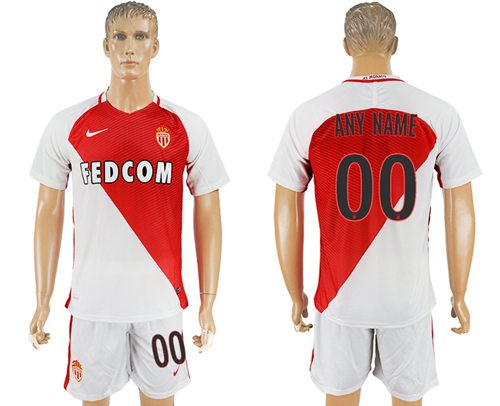 Monaco Personalized Home Soccer Club Jersey