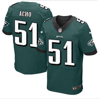 NEW Philadelphia Eagles #51 Emmanuel Acho Midnight Green Team Color Men's Stitched NFL Elite Jersey
